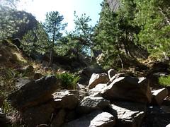 Remontée du haut-Velacu : partie finale du ravin sous le trou du Tafonu