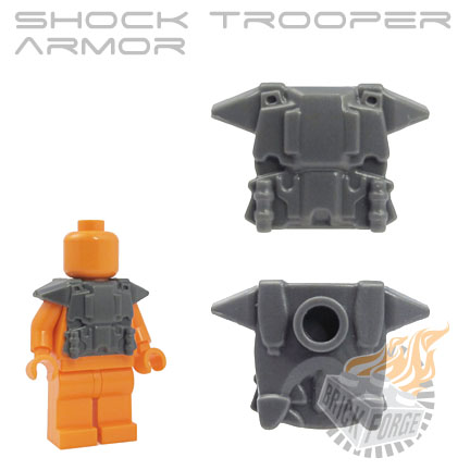 Shock Trooper Armor - Dark Blueish Gray