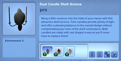 Dual Candle Shell Sconce