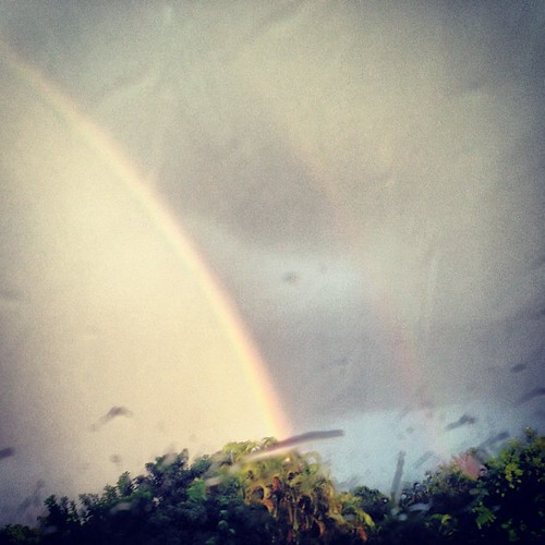 #doublerainbow thru my windshield!! Yes!!! #sunsentinel #coralsprings