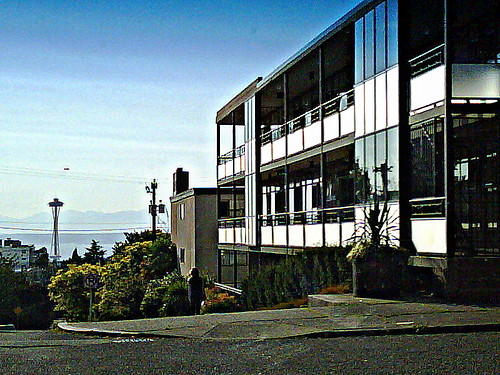 Seattle Still Life:  Capitol Hill Mid-Century Modern Apartments and the Space Needle
