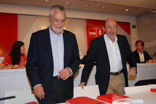 Griñán y Rubalcaba hoy en la ejecutiva federal del PSOE