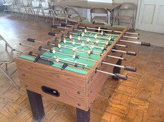 Recreation room foosball table