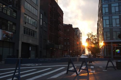 A New York evening by Premshree Pillai