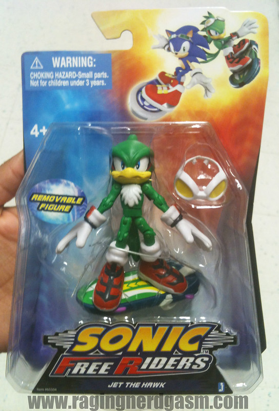 Sonic Free Riders Figures by Jazwares Jet The Hawk 007