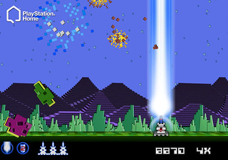 Intellivision in PlayStation Home: Astro Smash