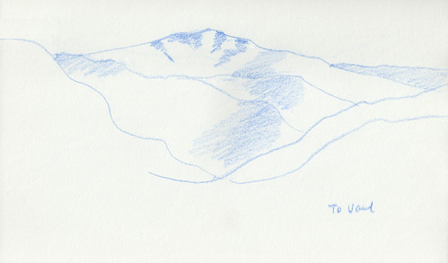 Colorado Sketchbook To Vail (Blue and White Version) by randubnick