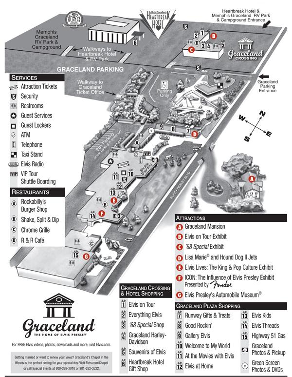Mapa del Rancho y zonas visitables de Graceland (clic para agrandar) elvis presley - 7985779837 1dbde67ba7 o - Elvis Presley, 35 años después sigue siendo el Rey
