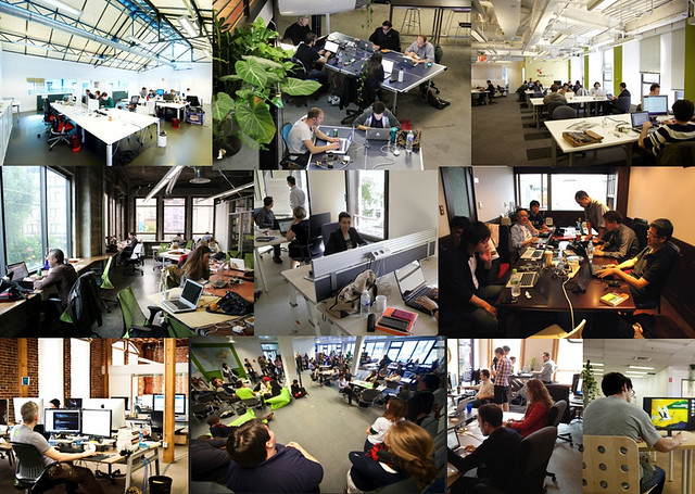 Espaces de coworking [mosaic]