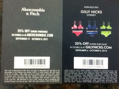 Abercrombie & Fitch, Gilly Nicks coupon