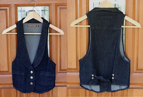stretch denim vest (for swap)
