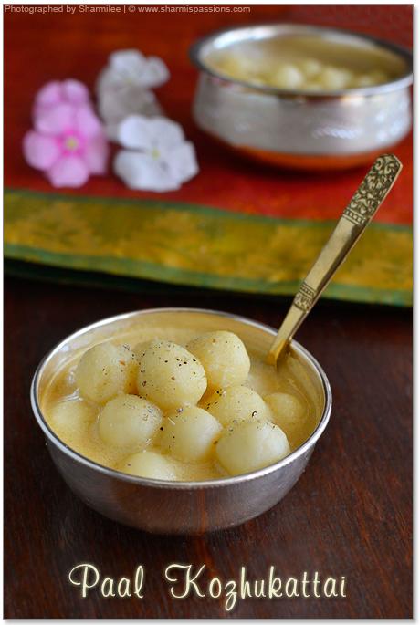 Paal Kozhukattai Recipe(with jaggery and coconut milk)