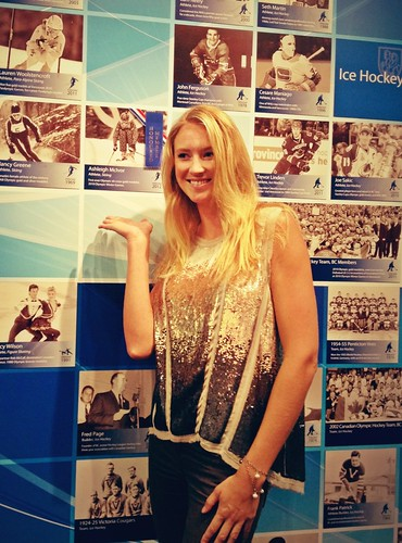 Ski cross champ @AsleighMcIvor gets inducted into the @BCSportsHall