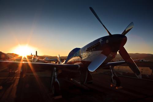 sunset canon5d mustang warbird p51 missamerica renoairraces 24105f4 renoairraces2012