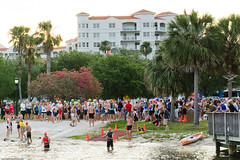 Tomoka Triathlon Swim Start