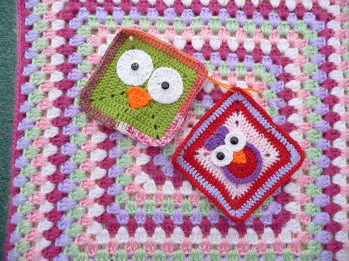 Squares for our 'Owl' Challenge.