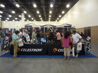 Crowded Celestron Booth