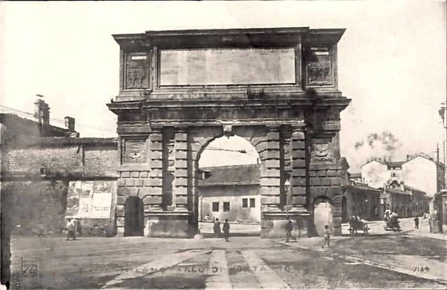 Arco di porta romana e l 39 inizio di corso di porta romana - Corso di porta romana ...