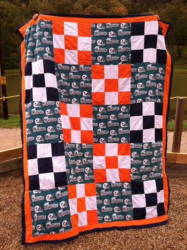 Nathan's Miami Dolphins Quilt