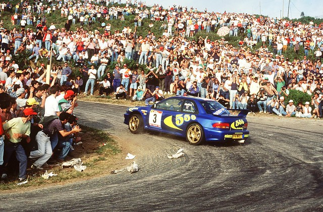Subaru Impreza WRC97 of Colin McRae at 1997 Rally Portugal