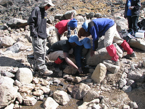 Collecting hydrology data in the alpine desert biome