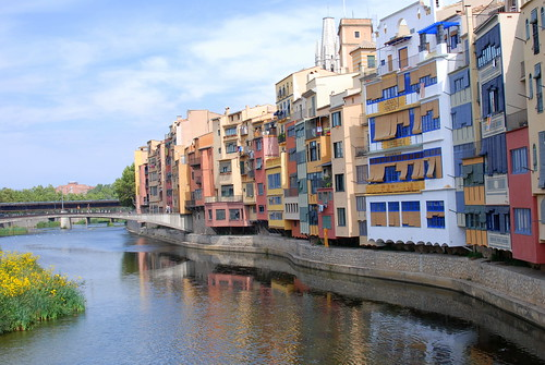 colorful buildings of Girona Spain