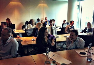 Attendees at Philip Calvert's How to use LinkedIn workshop