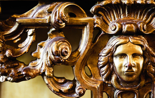 Mirror cherub decoration - Down Hall Country House Hotel