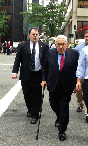 Henry Kissinger in Midtown. by Eugene Lagana