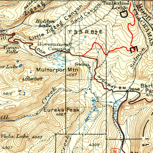 Map of Swim area from 1924