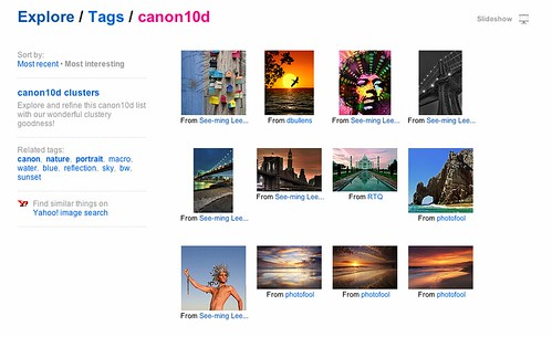 Flickr Explore: Tags: Canon 10D: Sort by Interestingness / Screen Shot 2012-09-30 at 5.32.04 PM / SML Screenshots
