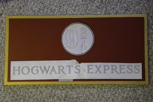 Hogwarts Express 9 3/4 Sign