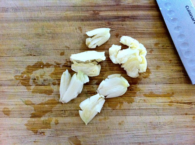 6 Cloves Smashed Garlic