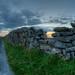 Sunset through wall stile Inis Oirr, Arann Islands by S.Wieler