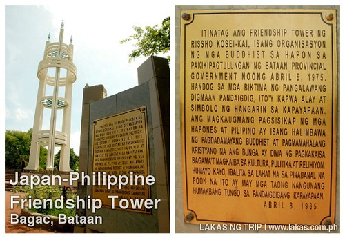 Japan-Philippine Friendship Tower in Bagac, Bataan