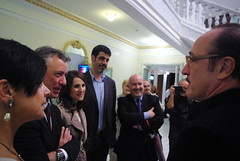 Iñigo Urkullu charla con Roberto Álvarez