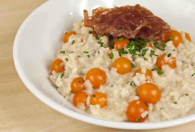 Flagship Risotto with Sun Gold Tomatoes