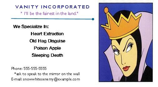 evilqueenbusinesscard