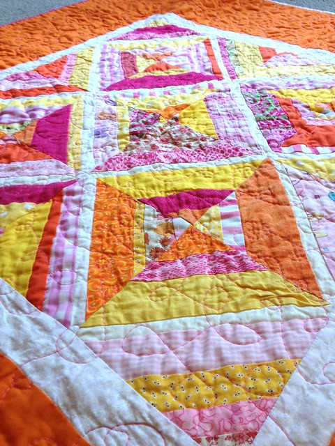 Jill's Kelli quilt up close