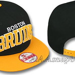 New Era NHL Boston Bruins SNAPBACKS Hats CHENILLE Caps Black Gold