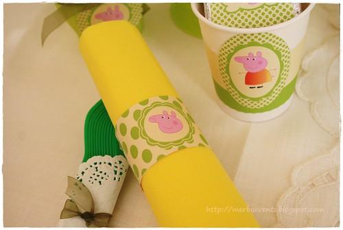 kit imprimbible Peppa Pig verde Merbo Events3