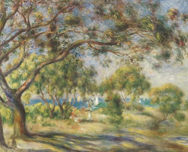 Pierre auguste renoir bois de la chaise noirmoutier for Bois de la chaise noirmoutier