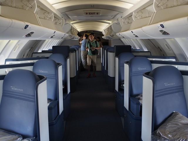 New Delta 747-400 Business Elite Upper Deck Cabin View ...