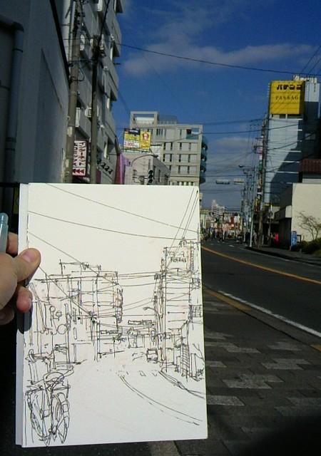a street view sketch (halfway)