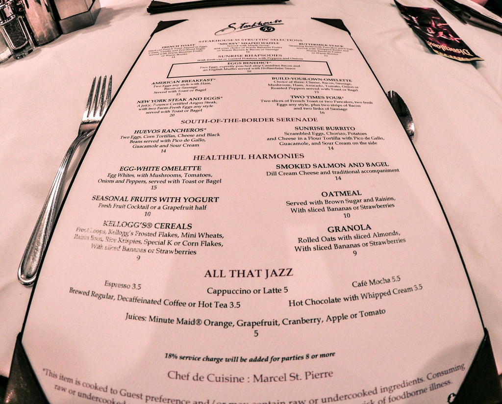 Steakhouse 55 menu