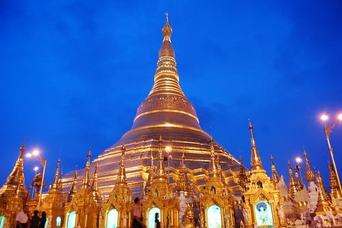 Shwe Dagon Pagoda in  Myanmar