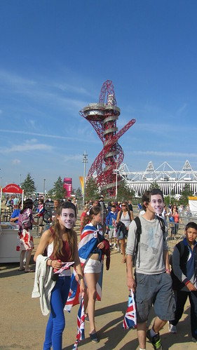 Tom Daley masks in the Olympic Park