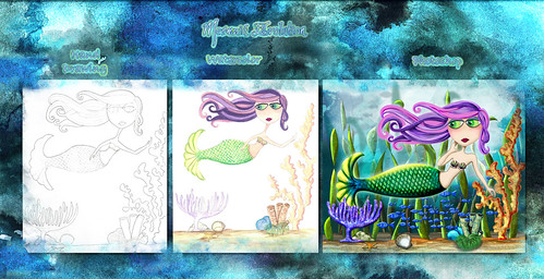 Mermaid Evolution by flowerlily1