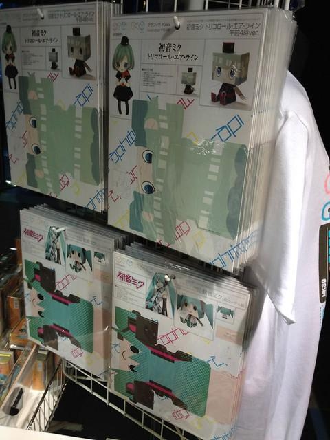 ジョイポリス グッズ売り場にて 初音ミクグッズ