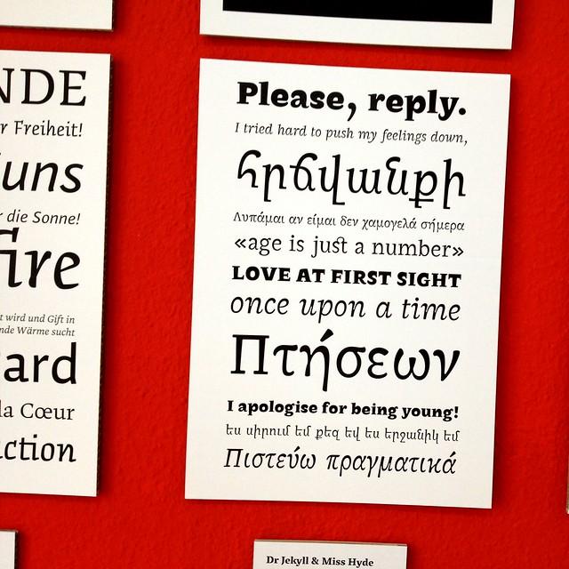 Mastering Type 2012 Presents New Type Design(er)s